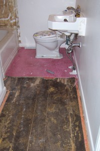 Bathroom floors before