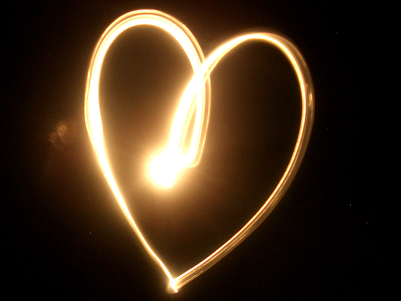 heart in lights