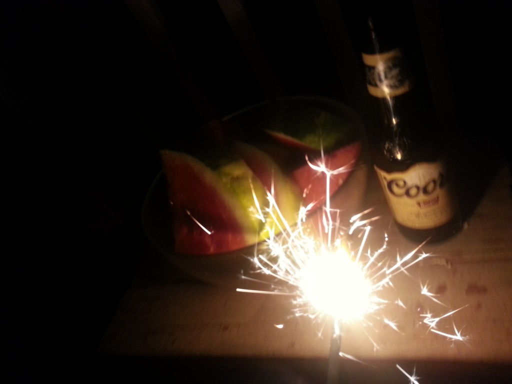 Sparklers and Beer