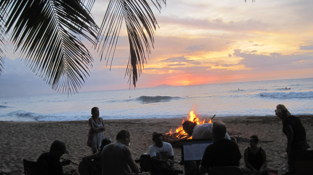 Paddle Out bonfire