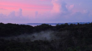 Sunset over aguadilla