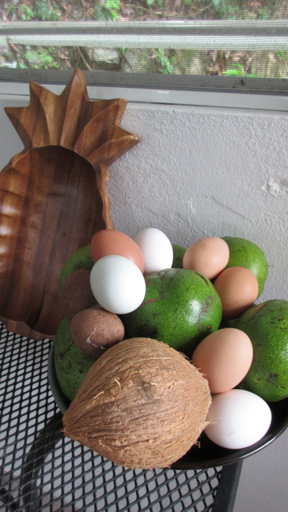 Avocados eggs and coconut