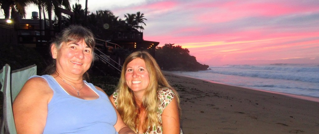 Sunset with mom and cassie small cropped