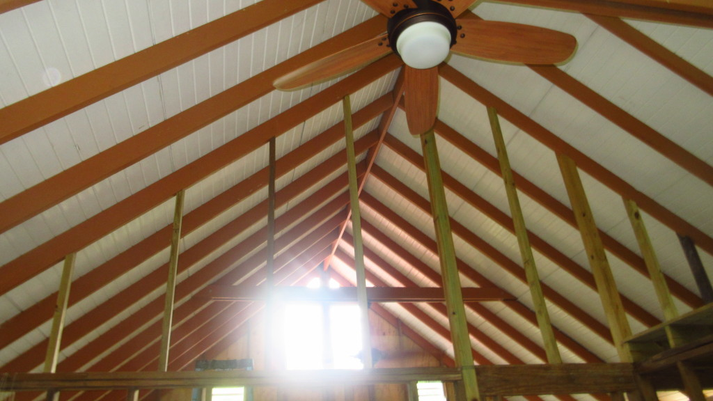 Wall Ceiling and Fan in Cabin