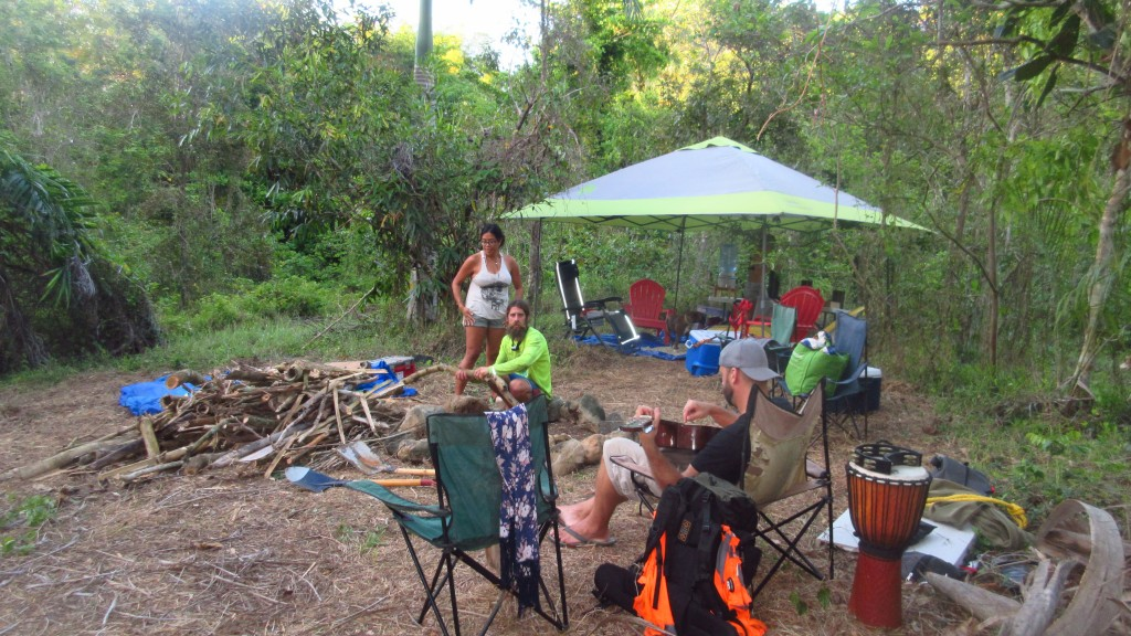 Camp in jungle