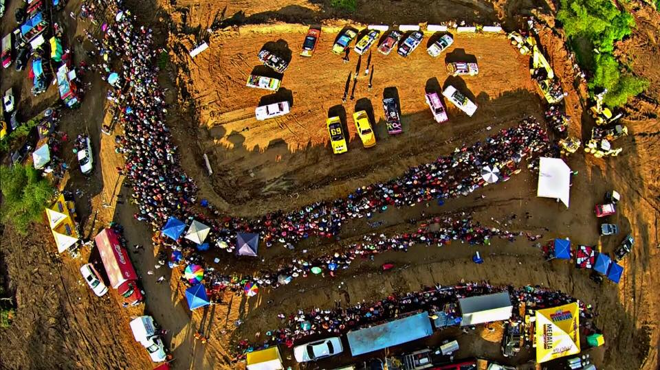 Demolition Derby from above