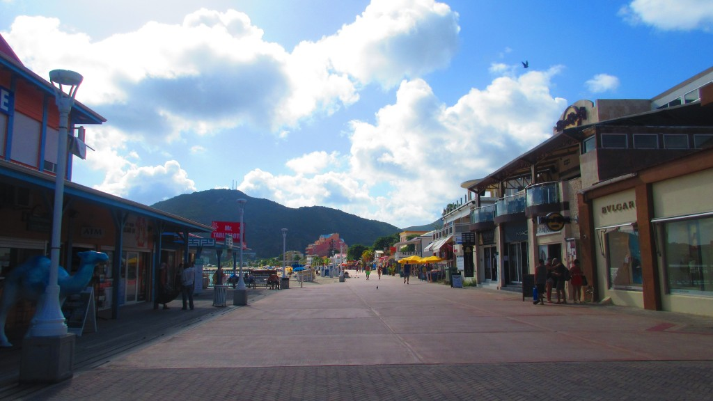 Main strip of St Maarten